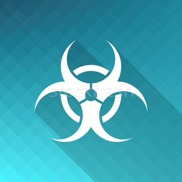 Biohazard icon Stock photo © blumer1979