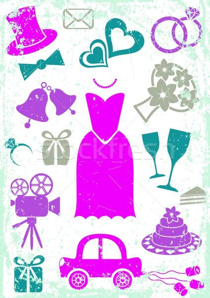 Wedding icons Stock photo © blumer1979
