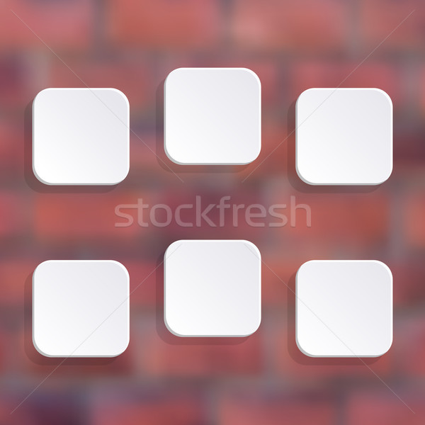 Vector white buttons Stock photo © blumer1979