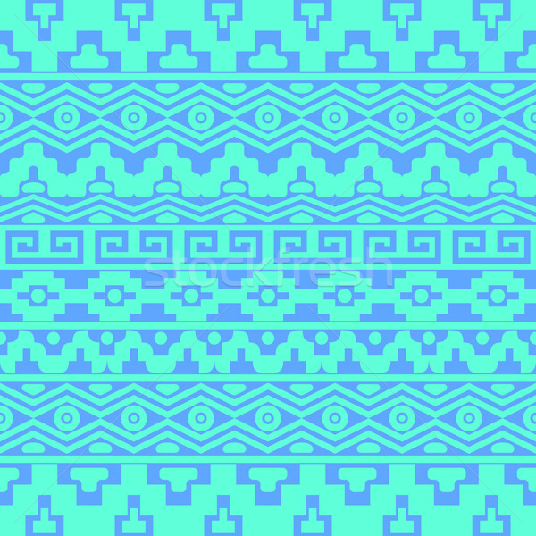 Seamless pattern with aztec ornaments Stock photo © blumer1979
