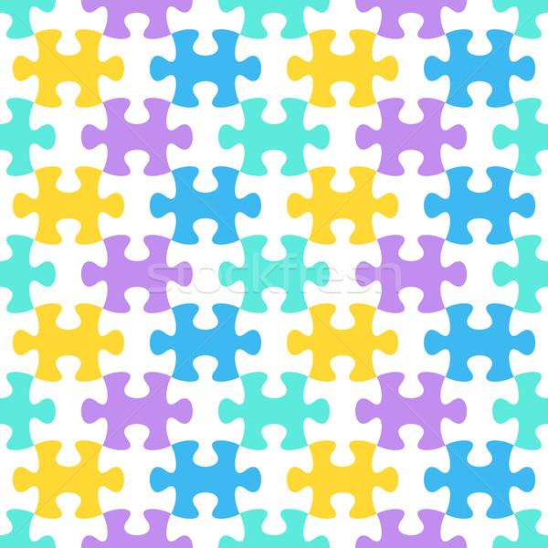 Kleurrijk vector puzzelstukjes achtergrond Stockfoto © blumer1979