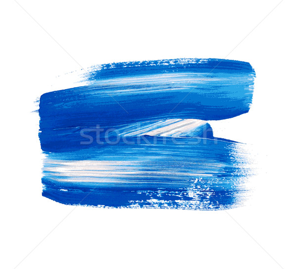 Blue vector watercolor paint stain Stock photo © blumer1979