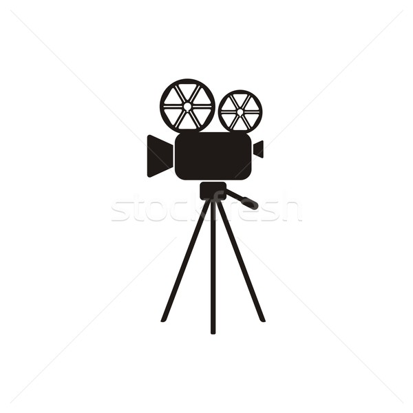 Movie camera icon Stock photo © blumer1979