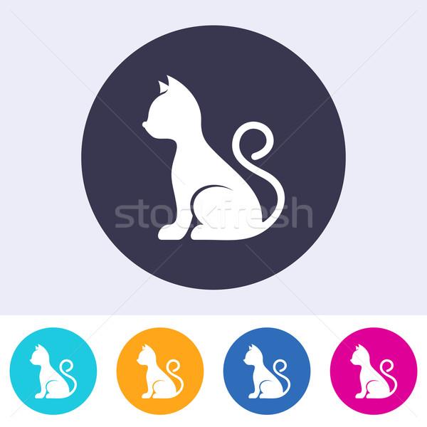 Vector simple cat icon Stock photo © blumer1979