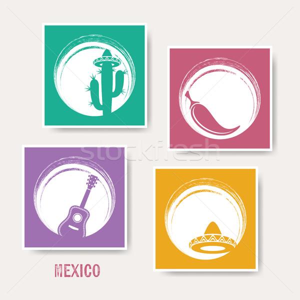 ベクトル 創造 メキシコ グリーティングカード 標識 音楽 ストックフォト © blumer1979