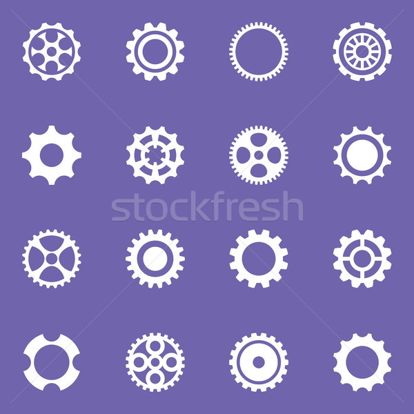 Simple vector cog wheels and gears Stock photo © blumer1979