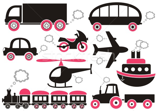 Transport icons Stock photo © blumer1979