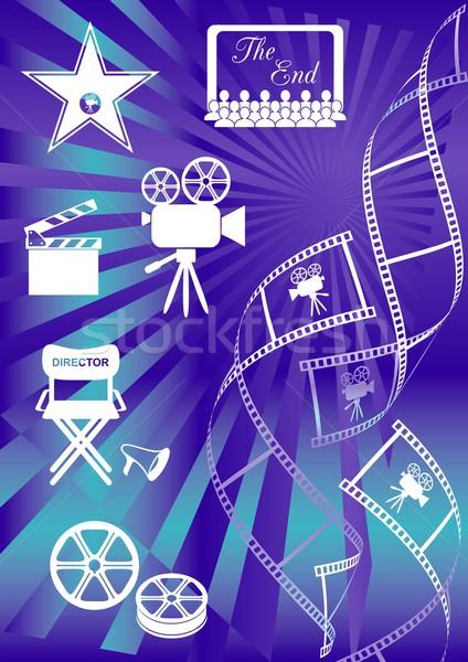 Stock photo: Movie background
