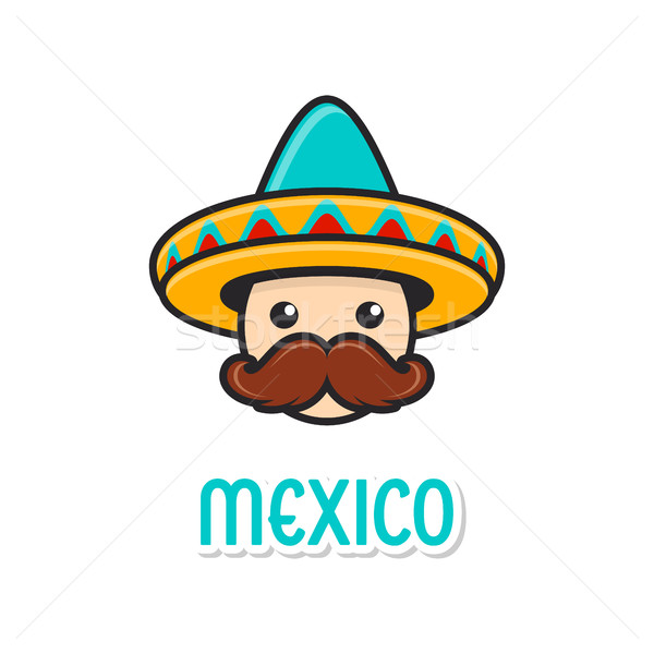 Man with sombrero and large moustache Stock photo © blumer1979
