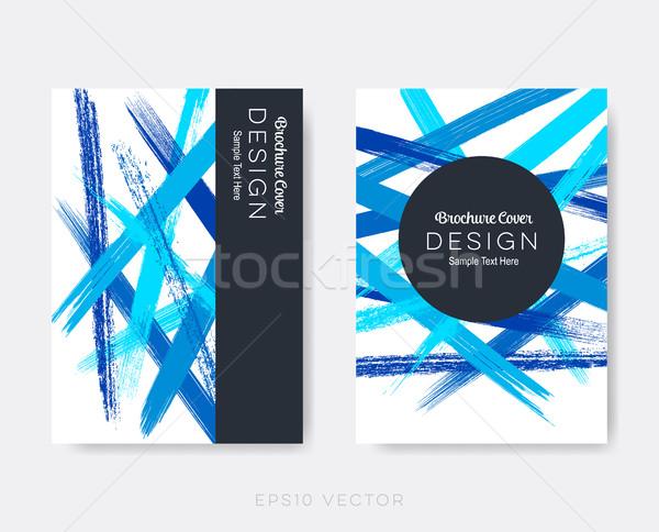 Stok fotoğraf: Modern · soyut · broşür · kapak · dizayn · şablonları