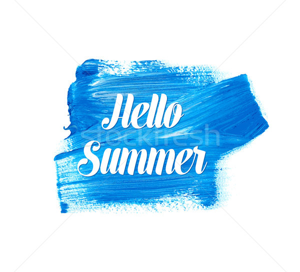 White hello summer lettering Stock photo © blumer1979