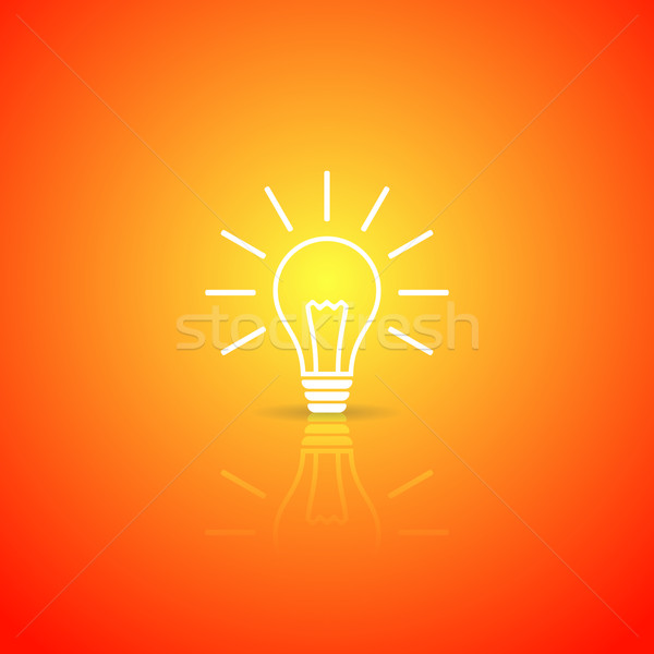 Design bianco vettore icona arancione Foto d'archivio © blumer1979