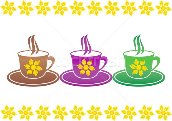 Cups of hot drink Stock photo © blumer1979