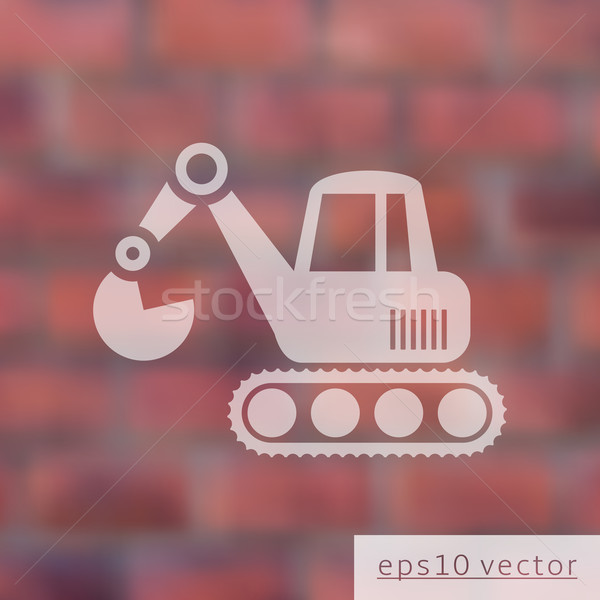 Excavator icon Stock photo © blumer1979