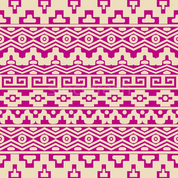Aztec seamless pattern Stock photo © blumer1979