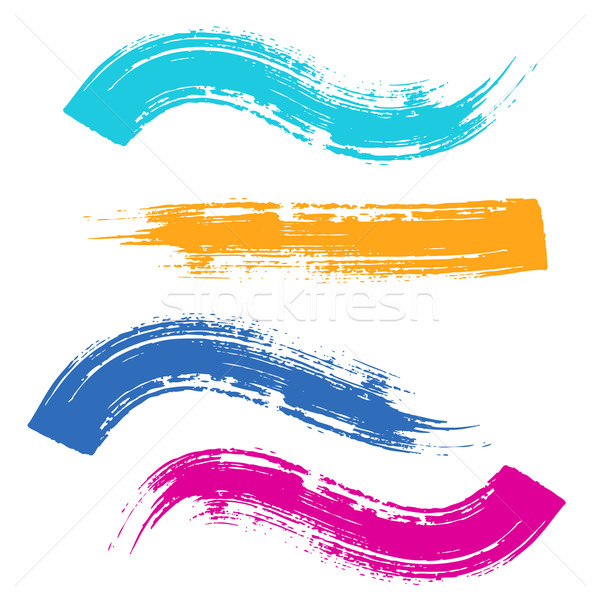 Vector colorful brush strokes Stock photo © blumer1979