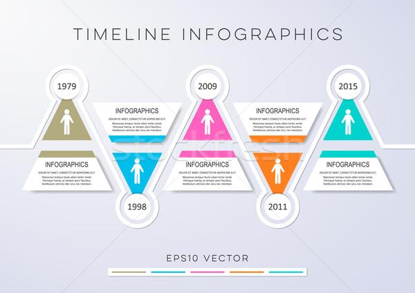 Infografía vector plantilla de diseño colorido moderna Foto stock © blumer1979