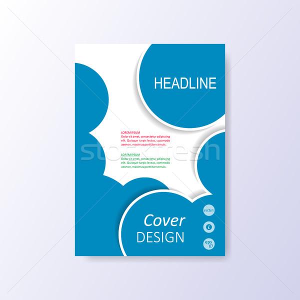 Vector modern blue brochure design template Stock photo © blumer1979