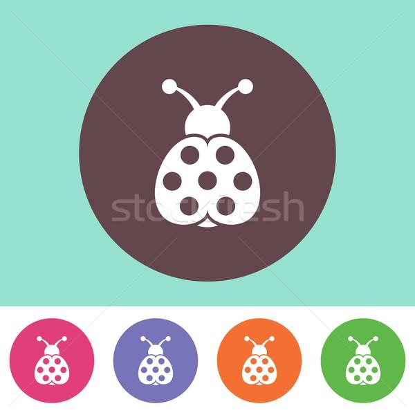 Katicabogár ikon vektor színes gombok tavasz Stock fotó © blumer1979