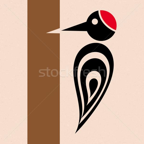 Woodpecker icon Stock photo © blumer1979