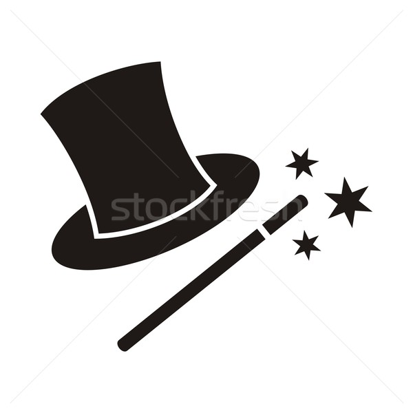 Magic wand and hat Stock photo © blumer1979