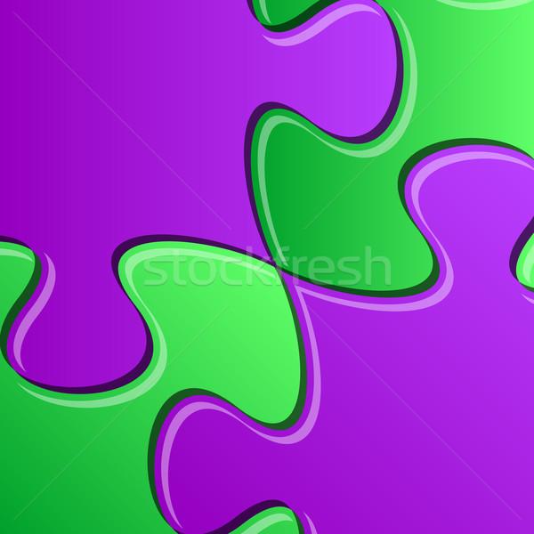 Puzzle pieces detail Stock photo © blumer1979