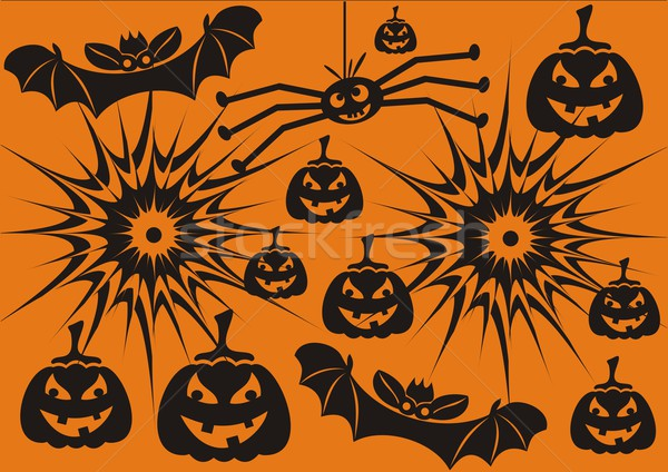 Hallowen symbols Stock photo © blumer1979