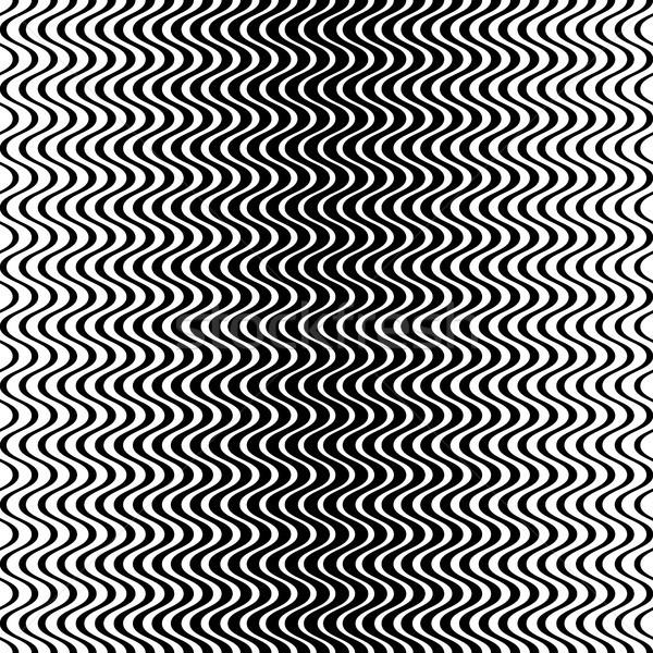 Végtelenített hullámos vonal minta fekete vektor Stock fotó © blumer1979