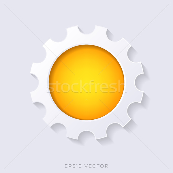 Orange vector 3d web button Stock photo © blumer1979