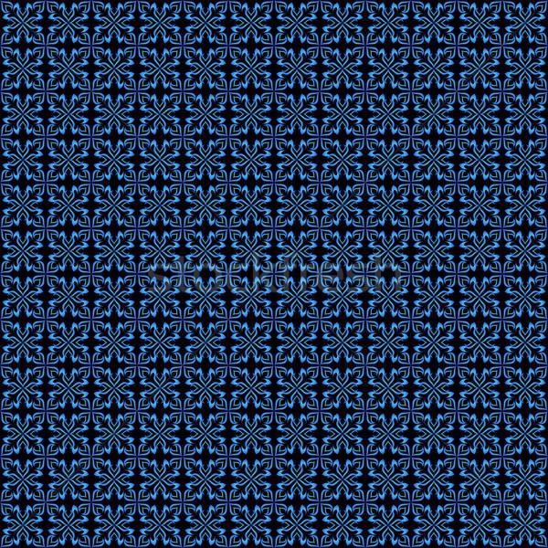 ストックフォト: パターン · 抽象的な · 青 · ベクトル