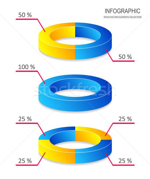 創造 ベクトル 円グラフ インフォグラフィック ビジネス レポート ストックフォト © blumer1979
