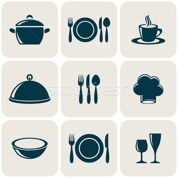 Kitchen icons Stock photo © blumer1979