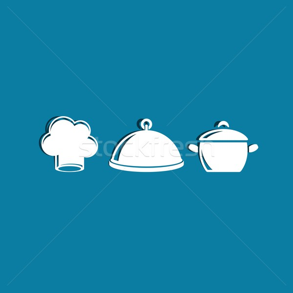 Cooking icons Stock photo © blumer1979