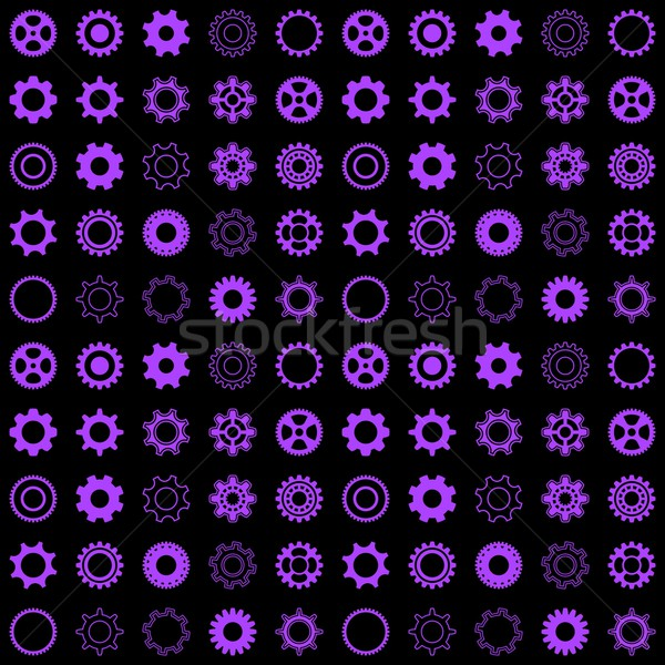 Seamless pattern with gear wheels Stock photo © blumer1979