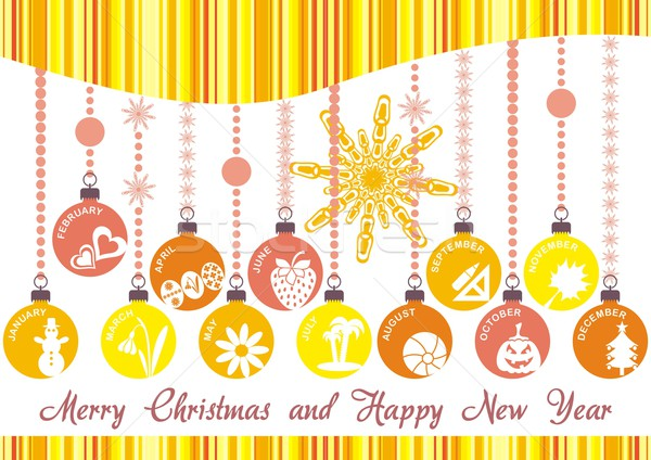 Noël invitation orange décoration Pâques fleur Photo stock © blumer1979