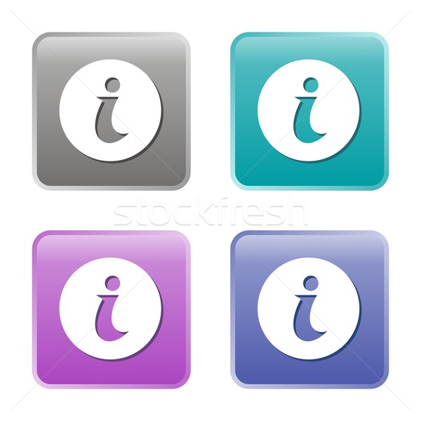 Info icons Stock photo © blumer1979