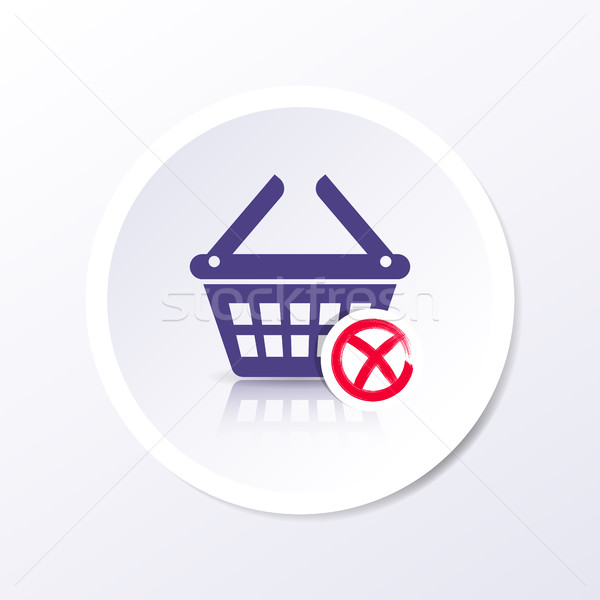 Vector shopping basket icon remove item Stock photo © blumer1979