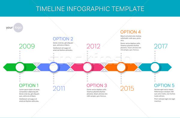 Vektor idővonal infografika sablon trendi történelem Stock fotó © blumer1979