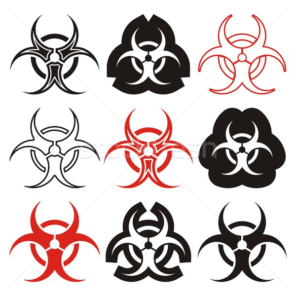 Biohazard symbols Stock photo © blumer1979
