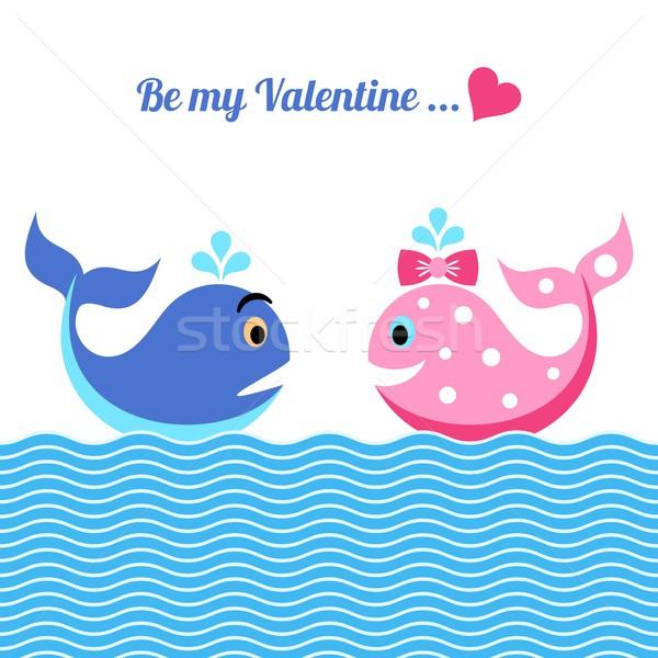 Valentin napi üdvözlet aranyos enyém vicces boldog szív Stock fotó © blumer1979