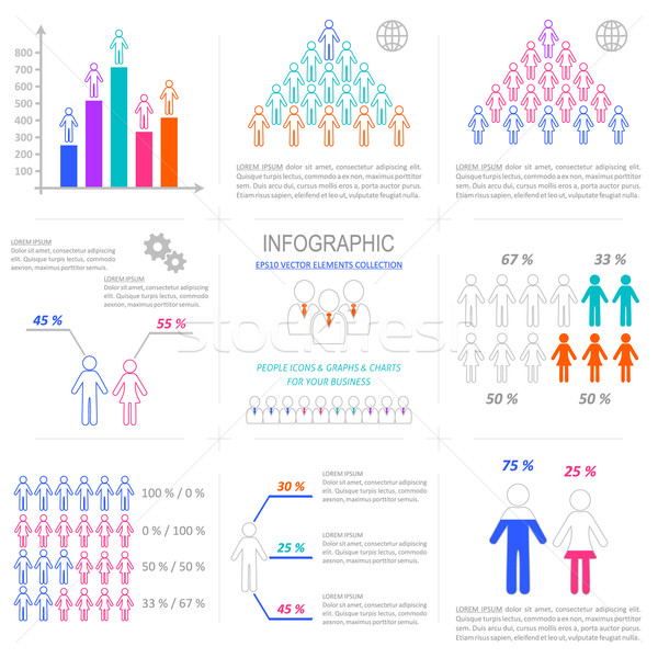 Vector infographic people icons collection  Stock photo © blumer1979
