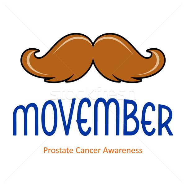 Vector november card with moustache Stock photo © blumer1979