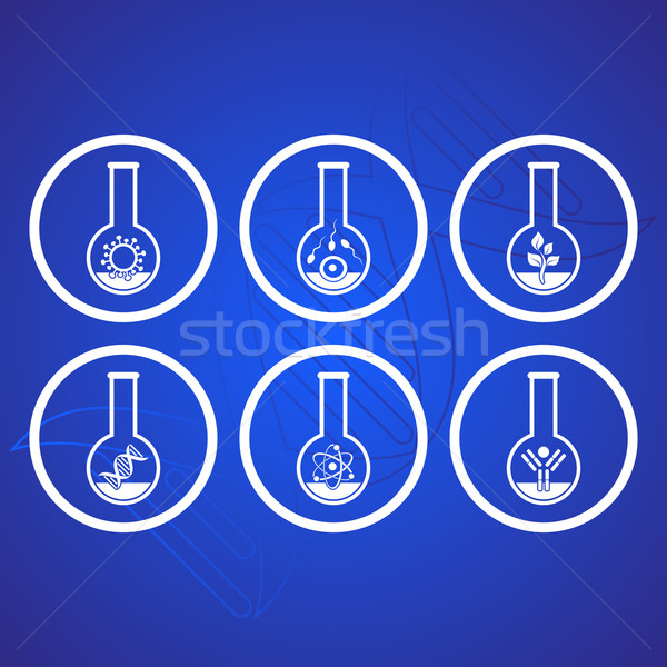 Biology icons Stock photo © blumer1979