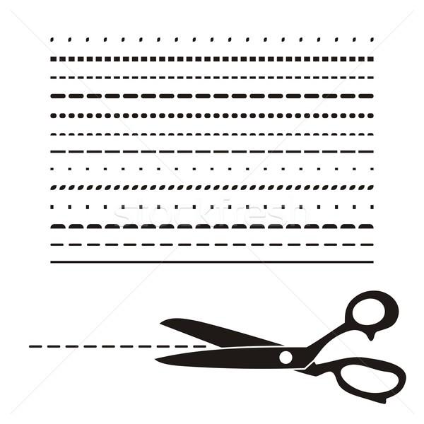 Ciseaux noir vecteur rétro icône Photo stock © blumer1979