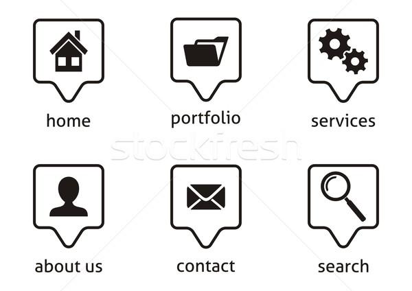Website menu icons Stock photo © blumer1979