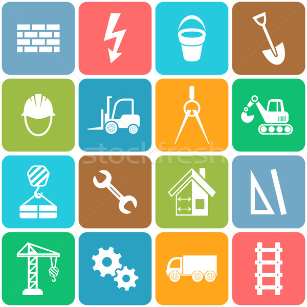 Stock photo: Vector abstract construction icons