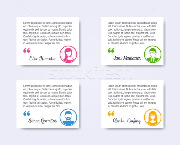 Personal profile business people labels Stock photo © blumer1979