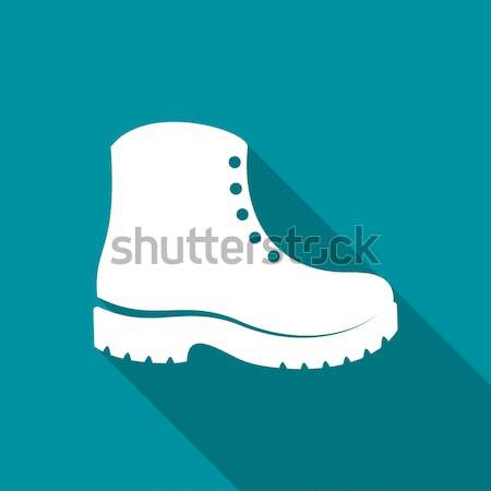 Simple black vector boots icon Stock photo © blumer1979