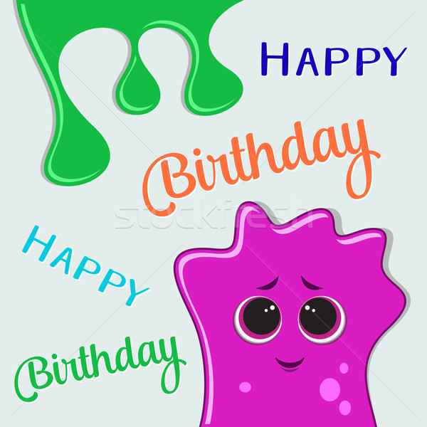 Happy birthday card Stock photo © blumer1979