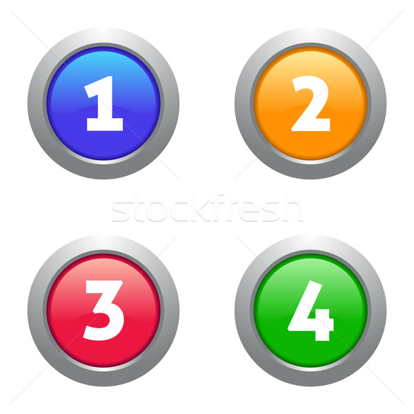 Web numbers buttons Stock photo © blumer1979